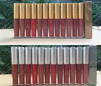 Spedizione gratuita ePacket Nuova labbra trucco d'argento / Gold Box opaco liquido Rossetto antiaderenti Cup Lip Gloss! 12 colori diversi