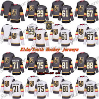 Les enfants (jeunes) Maillots Vegas jersey Golden Knights 29 Marc Andre Fleury 61 Mark Ston 75 Ryan Reaves 71 William Karlsson maillots de hockey