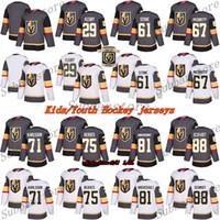 Çocuklar (Gençlik) Formalar Vegas Altın Knights Jersey 29 Marc Andre Fleury 61 Mark Ston 75 Ryan Reaves 71 William Karlsson Hokey Formaları