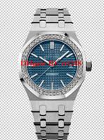 6 Estilo de Alta Qualidade Assista N8 Fábrica 37MM Royal offshore de carvalho 15451ST.ZZ.1256ST 15451OR.ZZ.1256OR diamante Senhora Automática relógios das mulheres