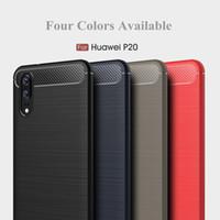 2018 새로운 화웨이 P20 P20 프로 핸드폰 케이스 럭셔리 탄소 섬유 실리콘 휴대 전화 커버를 들어 화웨이 P20 P9 P10 라이트 보호 쉘