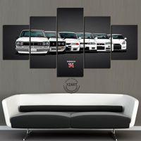 5 pezzi di pittura su tela Nissan skyline GTR auto poster pittura parete art home decor