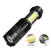 مصغرة التكتيكية مصباح يدوي LED سلسلة المفاتيح مضيا 4 طريقة التركيز قابل للتعديل COB ضوء العمل لمبة شحن مجاني