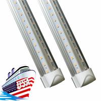 tubos de luz T8 4 pies 2 pies en forma de V T8 tubos de LED de alta potencia 22W integrados más frías luces de 600 mm de luz Led tubos LED T8 5000 lúmenes 110-240 AC