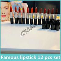 2019 chaud célèbre nouvelle couleur rouge à lèvres mat bullet bullet 12, maquillage de haute qualité rouge à lèvres maquillage cosmétique de haute qualité