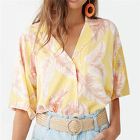 2019 Summer Floral Blouse Women Short Sleeve Beach Ladies To...