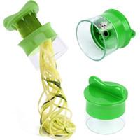 El Sebze Spiralizer Spiral Mutfak alet Sebze Dilimleme İmha Soyma Kesici Havuç Rende Mutfak Aksesuarları