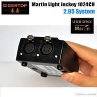 熱い販売5ピンUSB DMX MARTIN LITHJOCKEYソフトウェアインターフェイスDMX USBコントローラ1024チャンネルステージ照明コンソール