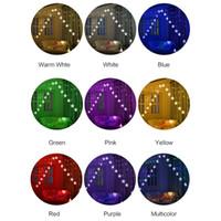 8 أنماط أضواء LED ستار سلسلة الستار داخلي سلسلة الأنوار في الهواء الطلق عطلة أضواء ماء دافئ أبيض / متعدد الألوان
