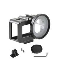سبائك الألومنيوم حالة وقائية + مرشح للأشعة فوق البنفسجية 52mm + غطاء العدسة + برغي + وجع + محول لكاميرا عمل DJI OSMO