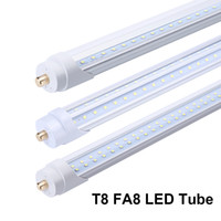 T8 LED Light Tube 8FT 96 Inch LED Bulbs Clear lens FA8 Commercial Household Lamp Shop Light Bulb Indoor Lamp Single Pin Dual-Ended