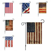 Independence Day Flag USA Druck Garten Banner Fourth of July Hanging Banner Indoor Outdoor Home Decor 16 Designs Großhandel LXL54-1