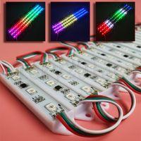12V WS2811 5050 RGB LED-Modul Light Flex Streifenband 3LEDs Adressierbarer Traum Magie Farbe Ändern IP65 Wasserdicht Für Frontfensterzeichen