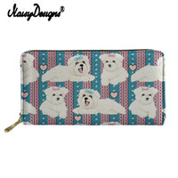 Noisydesigns Bolognese Cartoon Print Women Leather Purse Zip...