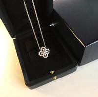 Schmuck Kette Diamant-Loop-Garten-Reihe 925 silberne Blumen-Diamant-Ring-Anhänger Halskette Frauen Bankett Statement Halskette