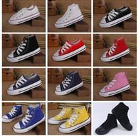 Yeni Marka Çocuklar Yıldız Tuval Ayakkabı Moda Yüksek Düşük Çocuk Ayakkabıları Erkekler ve Kızlar Spor Chuck Klasik Tuval Ayakkabı numarası 24-34 B11