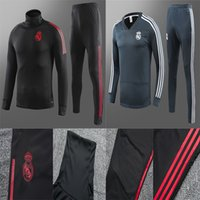Real Madrid tracksuit men' s soccer chandal football tra...