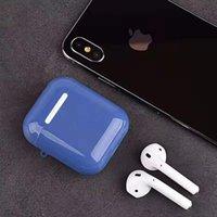 재고 있음 무선 Apple AirPods 이어폰 특수 설계된 충전 박스 내부 가방 휴대용 보호용 PC 울트라 씬 커버 케이스