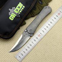 Yeşil diken BORKA katlanır bıçak M390 bıçak, titanyum alaşımlı kolu, açık kamp çantası bıçak pratik meyve EDC, Noel hediyesi.