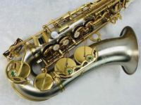Julius Keilwerth SX90R Alto EB Tune Saxophon E flach Kupfer-Nickel-Legierung Silber überzogener Körper Goldlack Schlüssel Musical Instrument Sax mit Fall Mundstück