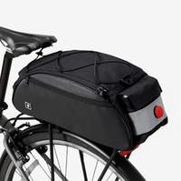 自転車リアバッグブラックカラー多機能宅急便警告ライトが付いているMTB自転車袋を循環させる
