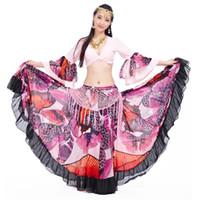 Stage Wear 2021 High Gypsy Skirt Suit 720 Grande danza del ventre 23 metri di alta qualità