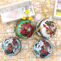 Christmas Horse Iron Ball Candy Box Alta calidad DIY Party Decoraciones colgantes de Navidad Super Cute Christmas Pendan 1Pcs