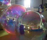 100cm 현저한 색상의 풍선 PVC 거울 풍선 직경 웨딩 / 광고 wq62에 대 한 사용자 정의 가능한 크기