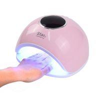 Star5 72W UV LED лампа с сенсорным лаком для ногтей Сушилка для ногтей Вылечить все УФ-гель для машинной лампы ЖК-дисплей Инструменты для маникюра