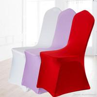 Universal Spandex chaise de soirée de mariage couvre spandex blanc couverture de chaise pour lycra soirée de mariage Banquet nombreuses couleurs