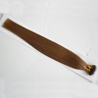 vierge brésilienne cheveux raides 100g Remy Nano Anneau Liens Extensions de Cheveux Humains 1g / s Kératine Droite Européenne Micro Perles Cheveux 100 Pièces
