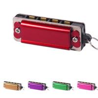 Mini 4 fori 8 tono collana armonica collana musicale del pendente Vino rosso