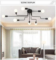 Illuminazione creativa industriale ristorante vento plafoniera Facture nordico moderno e minimalista moderno soggiorno camera da letto della lampada della personalità