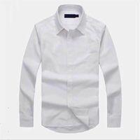 옥스포드 캐주얼 남성 셔츠 유명한 트렌드 티셔츠 최고 품질 자수 품질 경영 티셔츠 긴 소매 드레스 셔츠