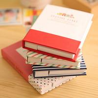 Hardcover Tagebuch-Notizbuch Notizblock Haftnotizen und Feder-Büro-Schule Schreibwaren