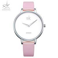 CWP 2021 Shengke Fashion Women Watches Marca Famosa Cuarzo Reloj Mujer Reloj Muñeca Montre Femme Relogio Feminino
