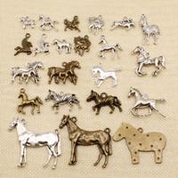 60 Fournitures Pièces pour bijoux Matériel animaux Cheval Zebra HJ052