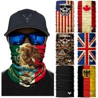 66 Styles Mexique National Drapeau Sans couture Skull 3D Headscarf Headscarf Headbear Masque Masque Collier Soleil Soleil Camouflage Masque de camouflage ZZA891 1 IGIF