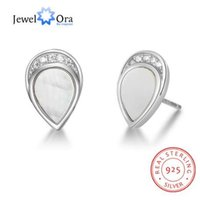 925 brincos de prata para as mulheres pérola ostras brincos gota de água 2018 nova chegada presente da jóia bonito (jewelora EA102912)