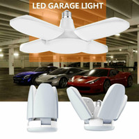 E27 60W 2835 LED Garage Lampe 85V-265V pliante de la lampe de déformation à quatre feuilles d'éclairage de garage 6000LM pour atelier d'entrepôt à domicile