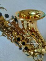 Giappone Yanagisawa Soprano Soprano SC-W010 Sassofono Elettroforesi Gold Sax B Strumenti piatti con accessori Case GRATUITA