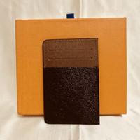 Card Holders di titolari della carta delle donne degli uomini del CONTROLLO del PLAID Holder floreale carta di credito tela rivestita in vera pelle mini raccoglitore con la scatola