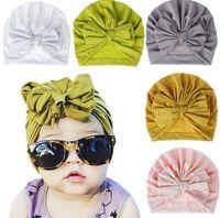 لون الحلوى الاطفال القوس قبعة بلون قبعة صغيرة الكروشيه الفتيات لطيف قبعة جديد ولد قبعة قبعة