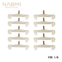 NAOMI 1/8 Violon Épaule Reste Pieds 10PCS Violon Épaule Reste Jambes Pieds Blanc Remplacements 1/8 Violon Pièces Accessoires Nouveau