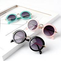 Baby solglasögon mode tjejer pojkar strandtillbehör uv400 skyddsglasögon solskydd glasögon pc + metall ram barn barn