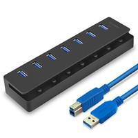 7ポートUSB 3.0ハブ5Gbps高速電力アダプタケーブルスプリッタエクステンダPC 1108
