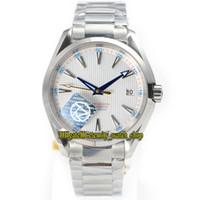 TZ Melhor versão Aqua Terra Série 150m 231.10.42.21.02.004 Branco Dial 8500 Mecânico Automático Mens Watch 316L Aço Banda Sport Relógios