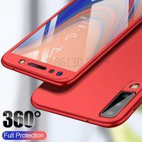 360 Caso de la cubierta completa para Samsung Galaxy A7 A6 A8 A9 J4 J6 J8 Plus A5 A7 casos para Samsung A20 A30 A50 A70 A20E A90 Caso