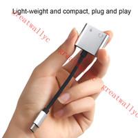 Adaptador Tipo C Adaptador de Áudio Aux Tipo USB C para 3.5mm Adaptador Jack Para fone de ouvido para Huawei P20 S8 sem 3.5 jack