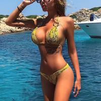 Beauté Maillot de bain Femmes Bikin Sexy Snake Bikini Pousseau de bain Maillots de bain Maillots de bain Maillot de bain Maillot de bain Plage de plage Maillot de Bain Femme
